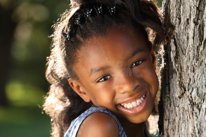 Gelukkig Kind Afro stock foto's