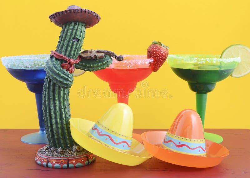 Gelukkig kleurrijk de partijthema van Cinco de Mayo royalty-vrije stock foto