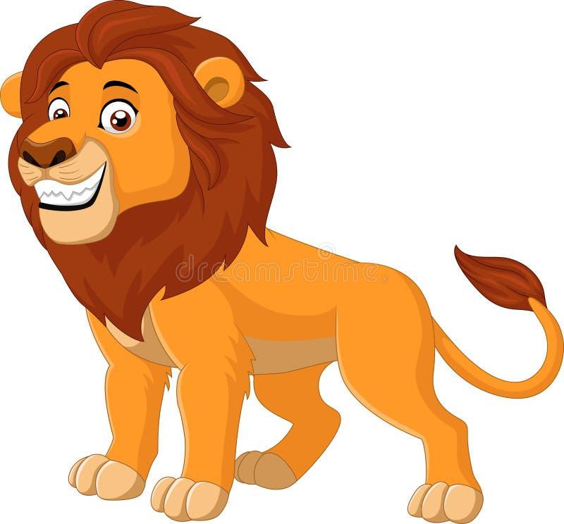 Gelukkig leeuwdier royalty-vrije illustratie