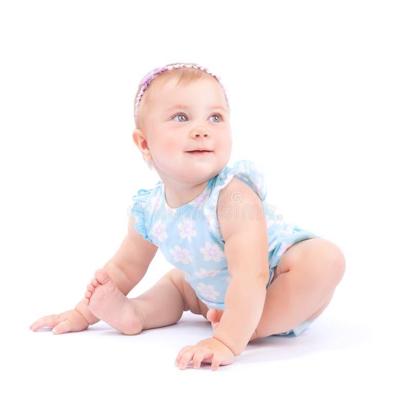 Gelukkig leuk babymeisje royalty-vrije stock afbeelding
