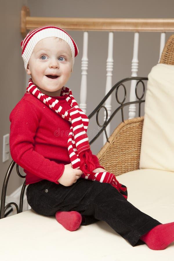Gelukkig meisje bij Kerstmis royalty-vrije stock foto's