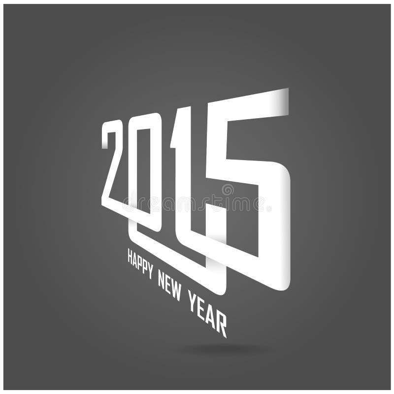 Gelukkig nieuw de kaartontwerp van de jaar 2015 creatief groet stock illustratie