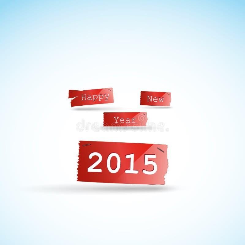 Gelukkig nieuw de kaartontwerp van de jaar 2015 creatief groet royalty-vrije illustratie