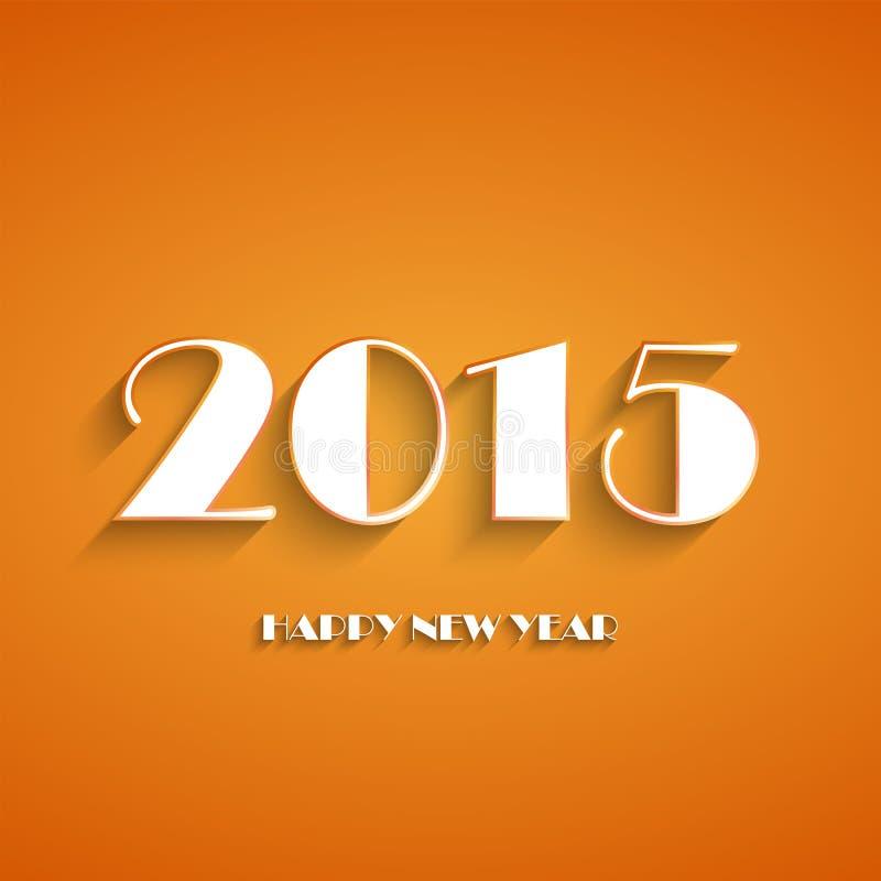 Gelukkig nieuw de kaartontwerp van de jaar 2015 creatief groet vector illustratie