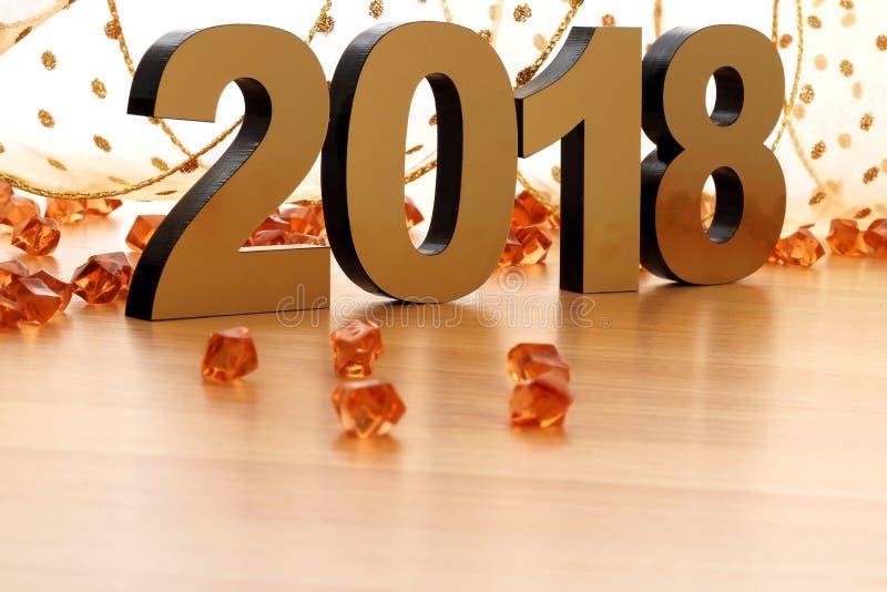 Gelukkig nieuw jaar 2018 royalty-vrije stock afbeelding