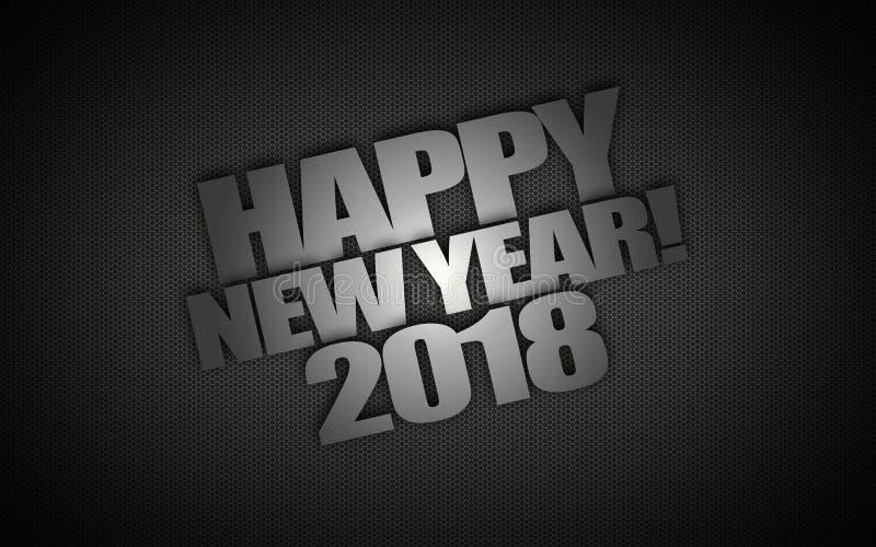 Gelukkig nieuw jaar 2018 stock illustratie