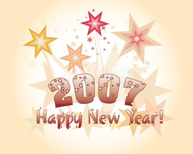 Gelukkig nieuw jaar. vector illustratie