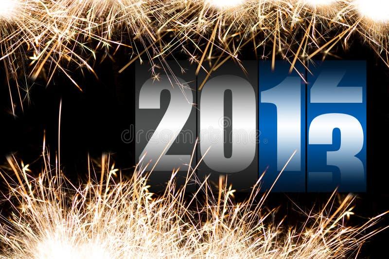 Gelukkig nieuw jaar 2013 royalty-vrije illustratie