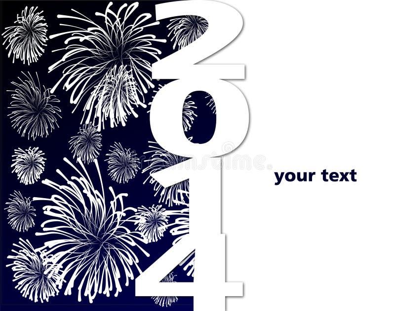 Gelukkig nieuw jaar 2014 royalty-vrije illustratie