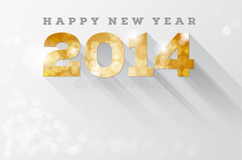 Gelukkig nieuw jaar 2014 stock illustratie
