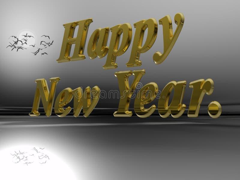 Gelukkig nieuw jaar. stock illustratie