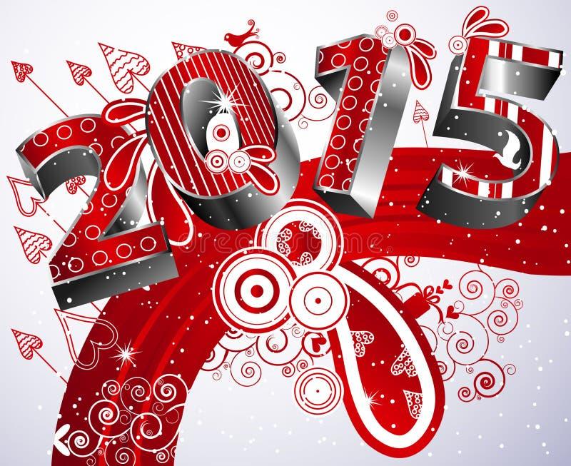 Gelukkig nieuw jaar 2011 stock illustratie