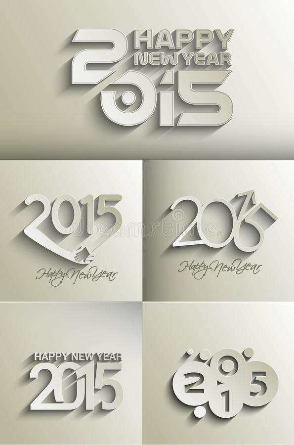 Gelukkig nieuw jaar 2015 vector illustratie