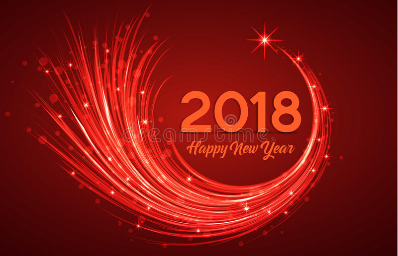 Gelukkig nieuw jaar 2018 royalty-vrije illustratie