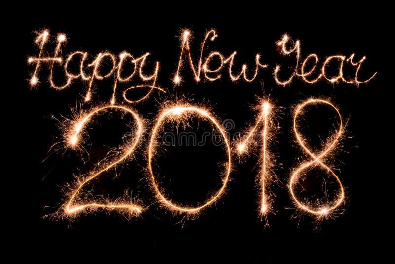 Gelukkig nieuw jaar 2018 royalty-vrije stock foto's