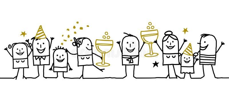 Gelukkig Nieuw jaar! royalty-vrije illustratie