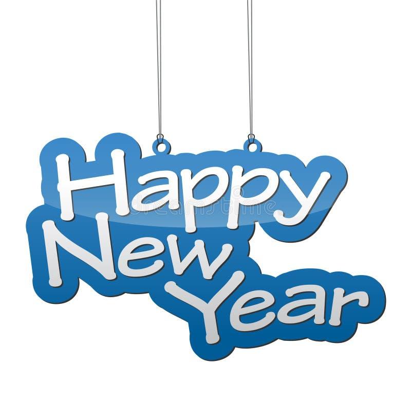 Gelukkig nieuw jaar als achtergrond vector illustratie