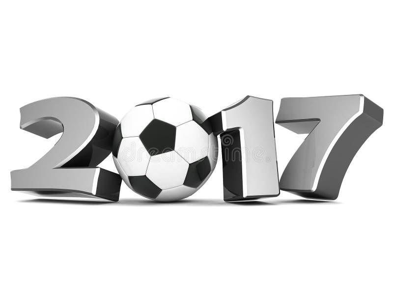 Gelukkig nieuw jaar 2017 3d Illustraties stock illustratie