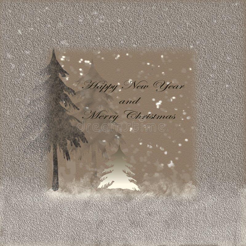 Gelukkig nieuw jaar en vrolijke Hrostmas stock fotografie