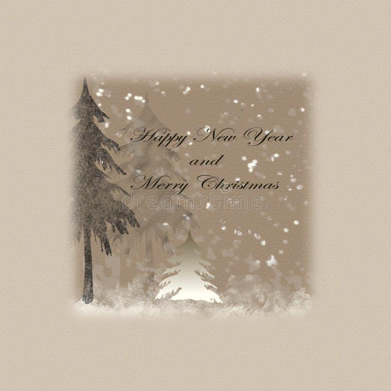 gelukkig nieuw jaar en vrolijke Kerstmis royalty-vrije stock afbeelding