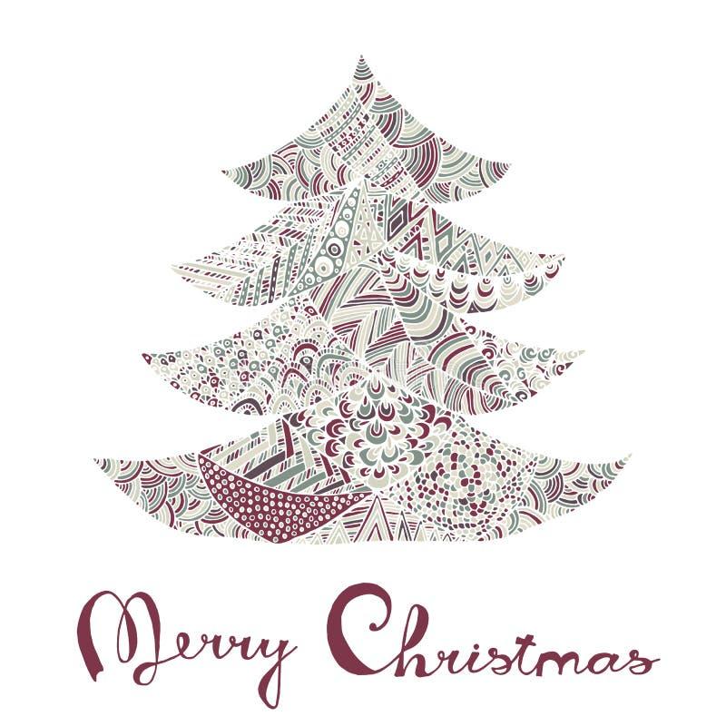 Gelukkig nieuw jaar en vrolijke Kerstmiskaart royalty-vrije illustratie