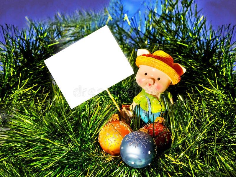 Gelukkig Nieuw jaar, 2019, gelukwens, prentbriefkaar, kaart, brief, teken royalty-vrije stock fotografie