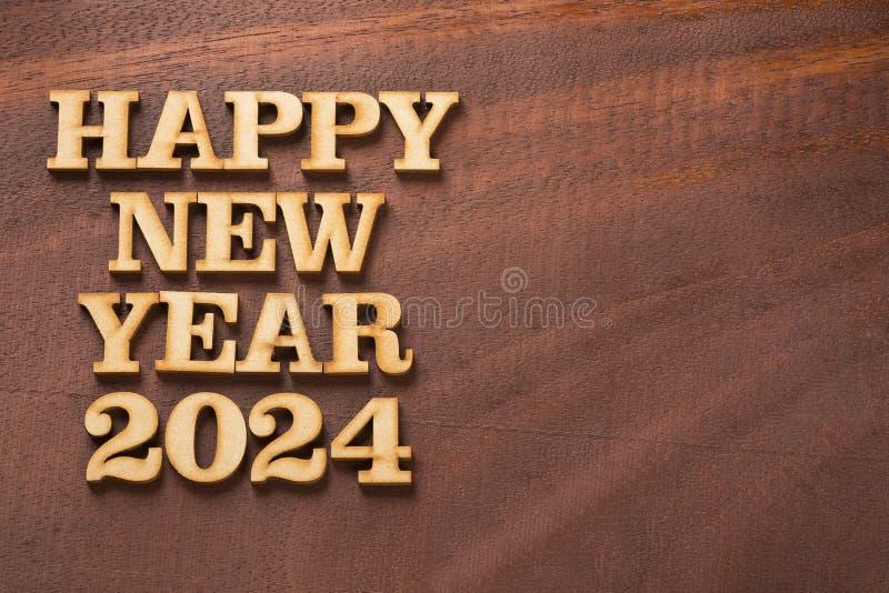 Gelukkig nieuw jaar 2024 - Tekstruimte royalty-vrije stock foto's