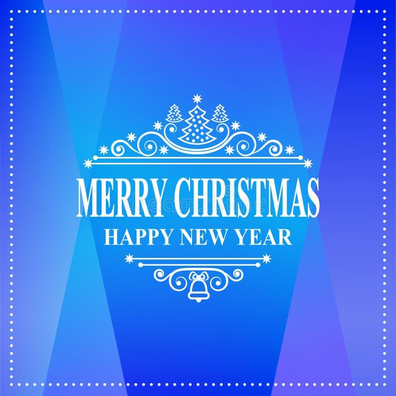 Gelukkig nieuw jaarbericht De vrolijke wens van de Kerstmisvakantie Groetkaart, uitnodiging, brochure, vliegerontwerp stock illustratie