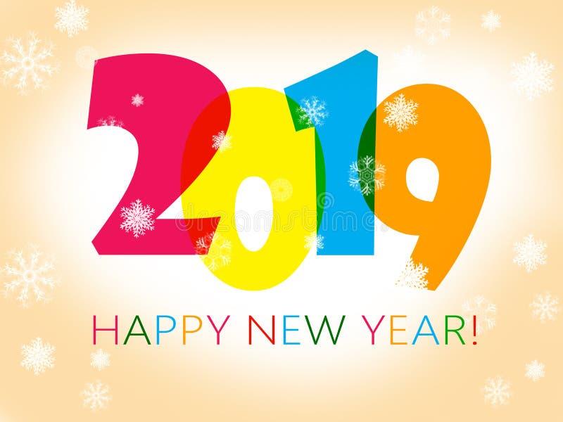 Gelukkig Nieuwjaar 2019 vector illustratie
