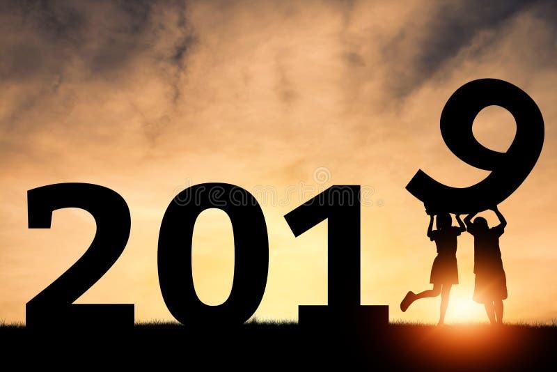 Gelukkig Nieuwjaar 2019 stock fotografie
