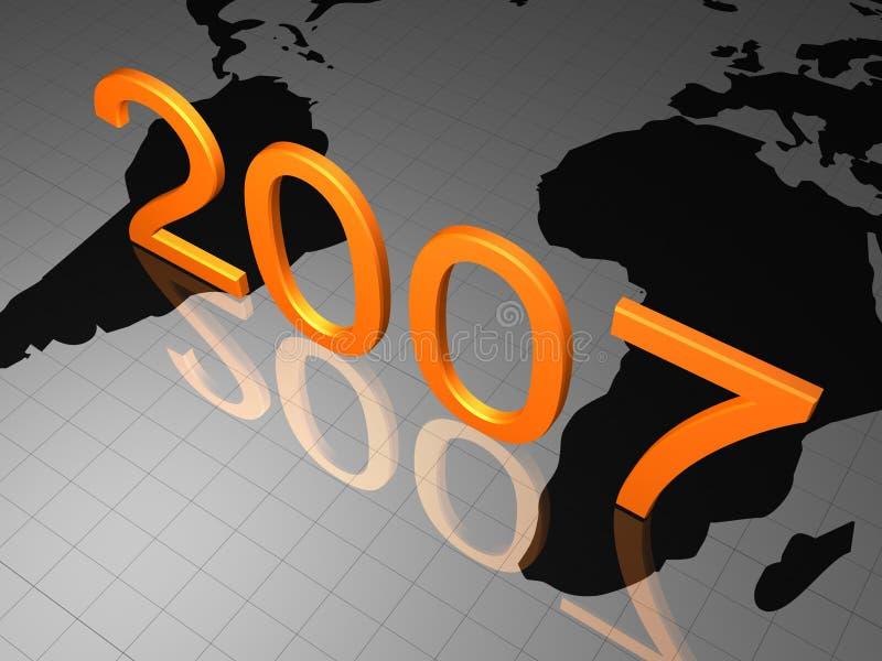 GELUKKIG NIEUWJAAR 2007 vector illustratie
