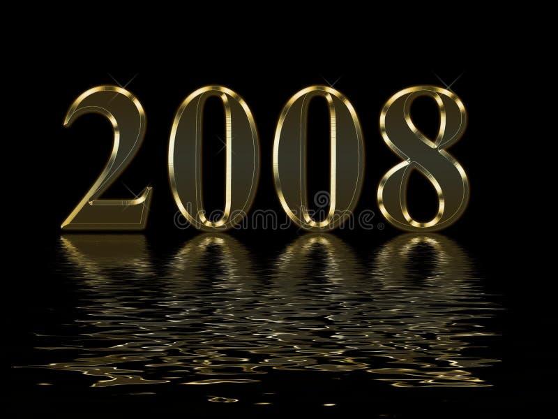 Gelukkig Nieuwjaar 2008 royalty-vrije illustratie