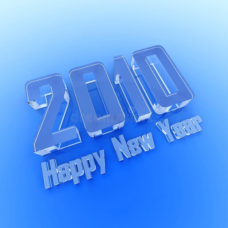 Gelukkig Nieuwjaar 2010 de ijstekst stock illustratie