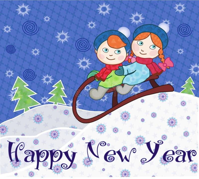 Gelukkig Nieuwjaar! stock illustratie