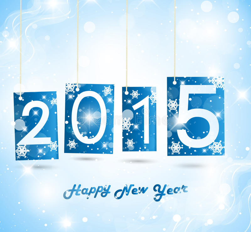 Gelukkig Nieuwjaar 2015 royalty-vrije illustratie