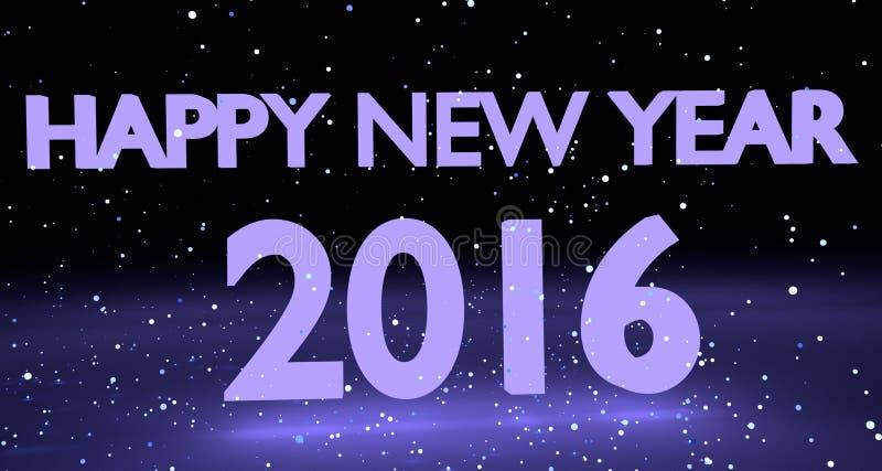 Gelukkig Nieuwjaar 2016 royalty-vrije illustratie