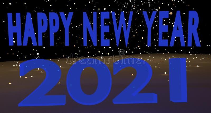 Gelukkig Nieuwjaar 2021 vector illustratie
