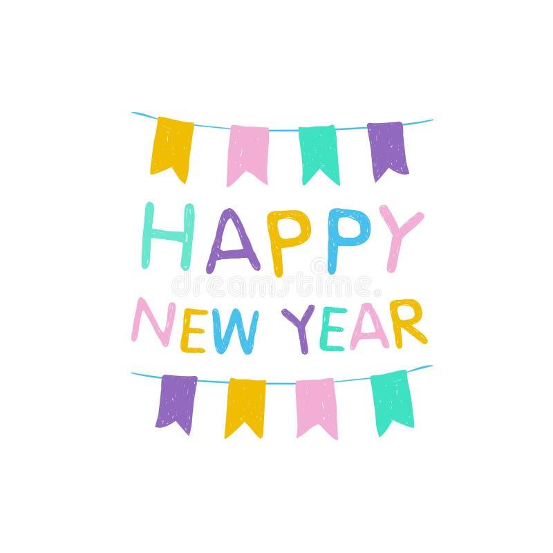 Gelukkig Nieuwjaar vector illustratie