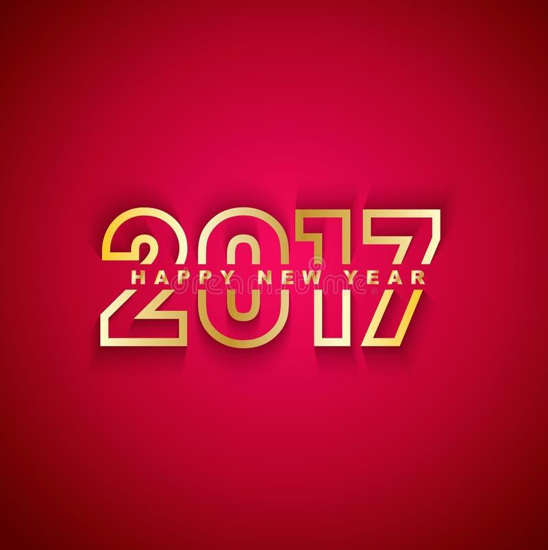 2017 Gelukkig Nieuwjaar royalty-vrije illustratie