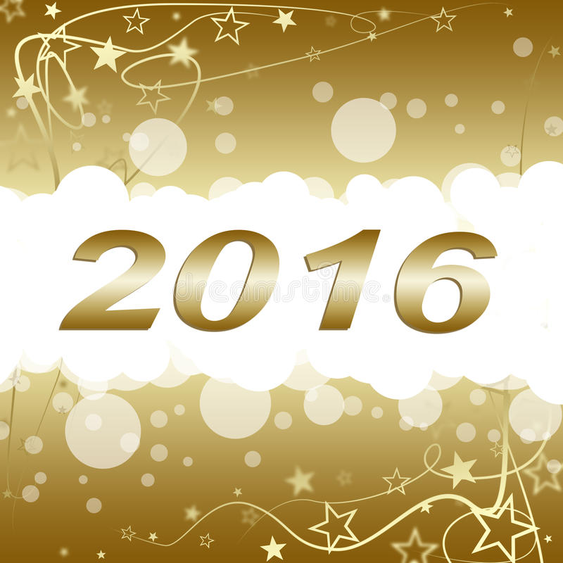 Gelukkig Nieuwjaar 2016 stock illustratie