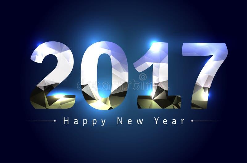 Gelukkig Nieuwjaar 2017 vector illustratie