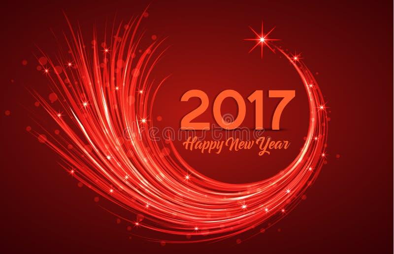 Gelukkig Nieuwjaar 2017 royalty-vrije illustratie