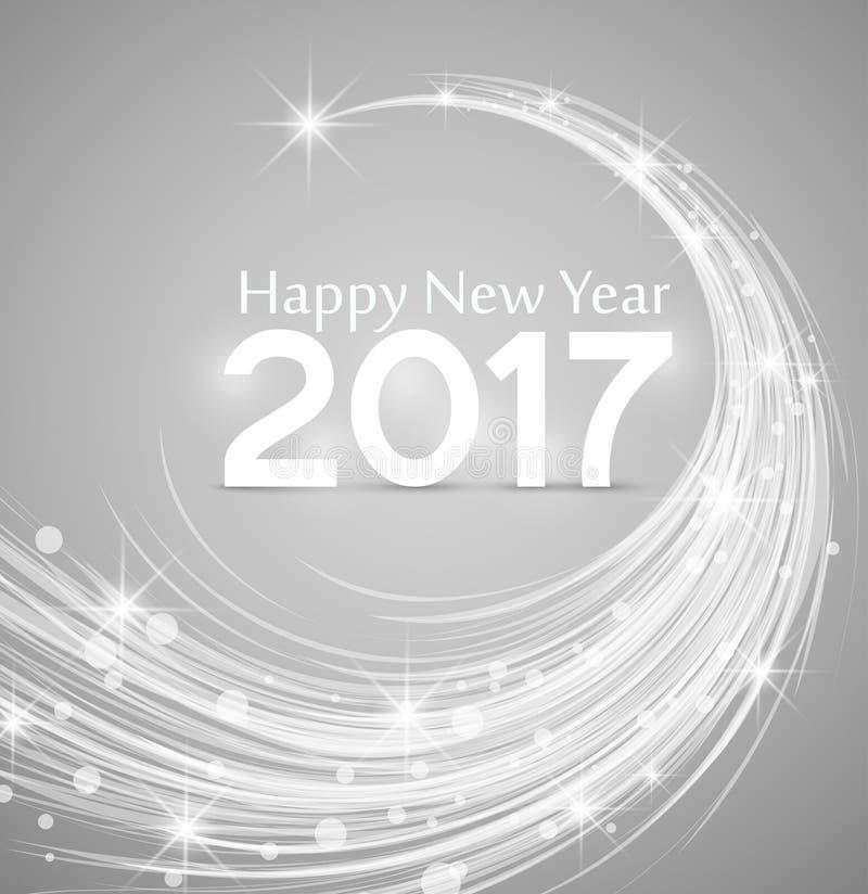 Gelukkig Nieuwjaar 2017 stock illustratie