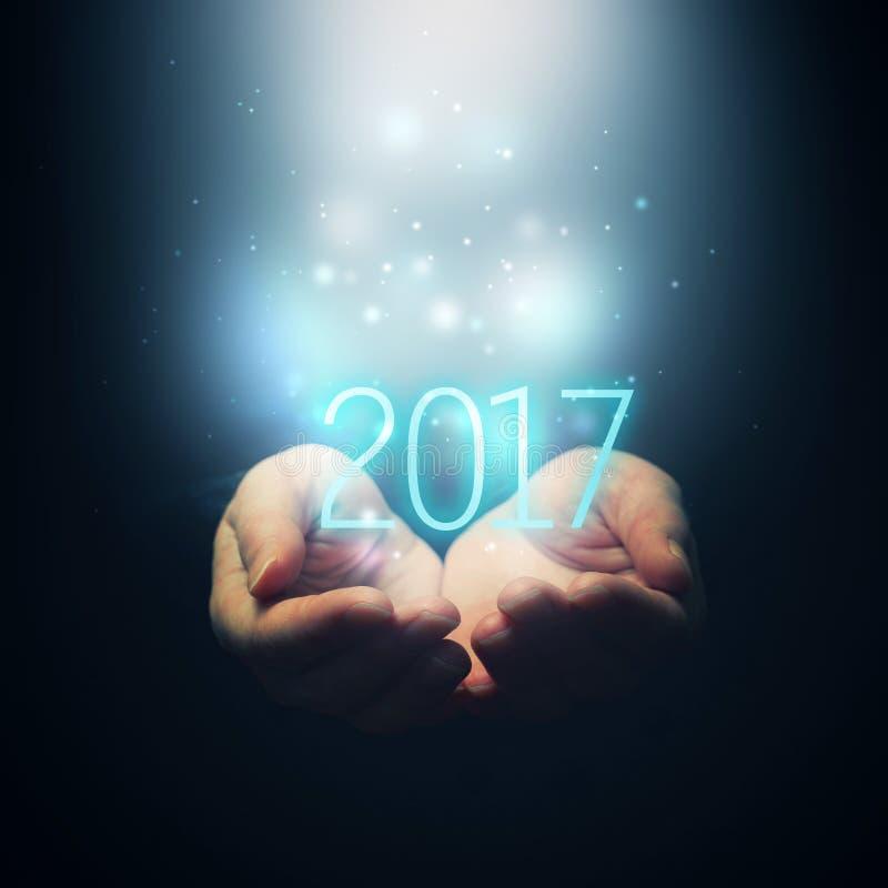 2017, GELUKKIG NIEUWJAAR stock afbeeldingen