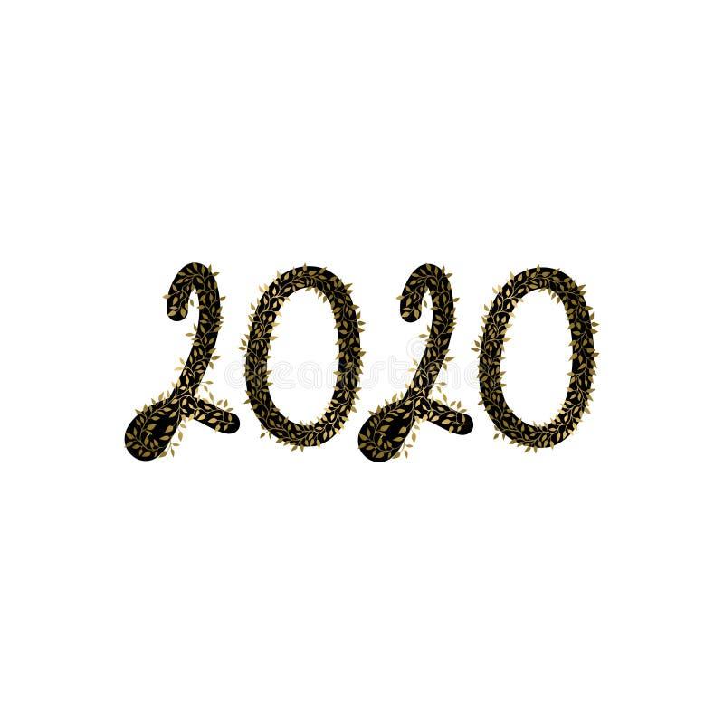 2020 Gelukkig Nieuwjaar royalty-vrije illustratie