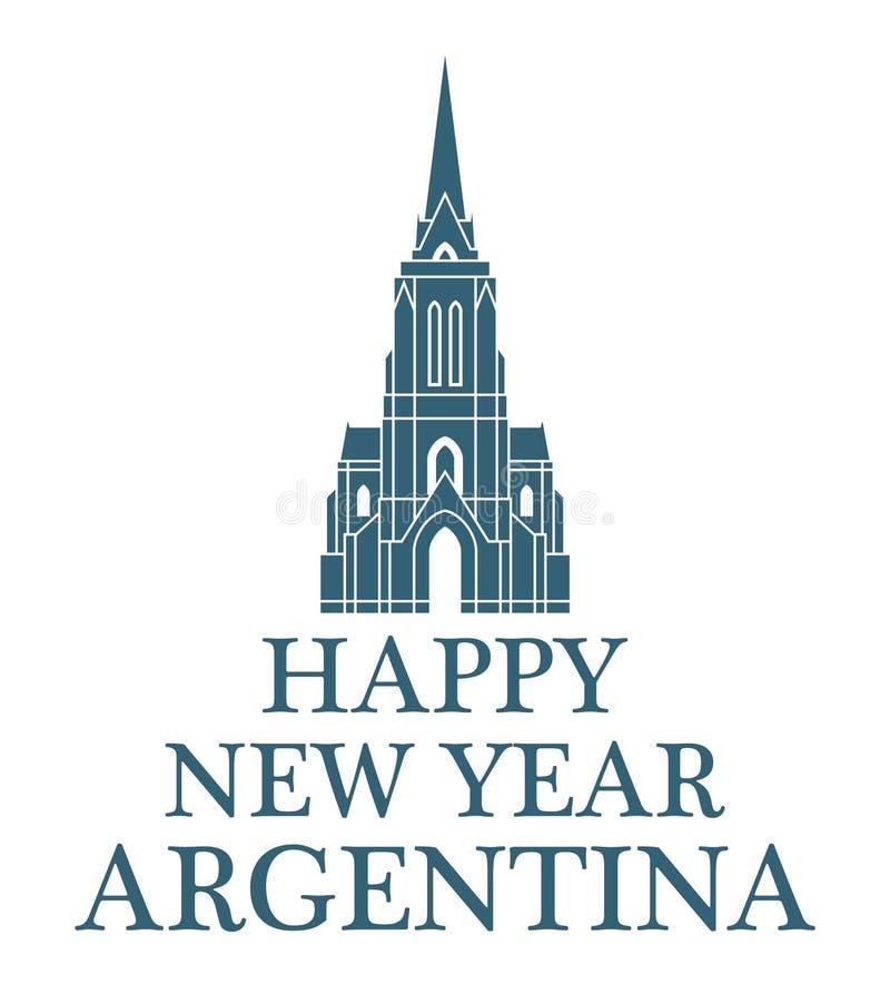 Gelukkig Nieuwjaar Argentinië vector illustratie