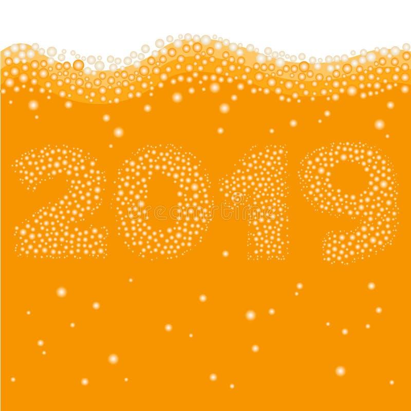 Gelukkig Nieuwjaar 2019 concept vector illustratie