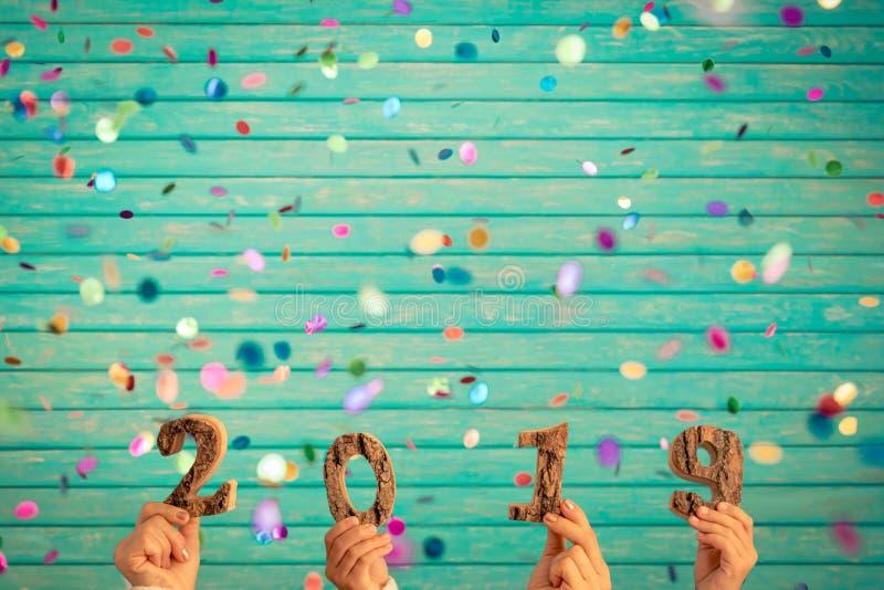 Gelukkig Nieuwjaar 2019 concept stock afbeeldingen