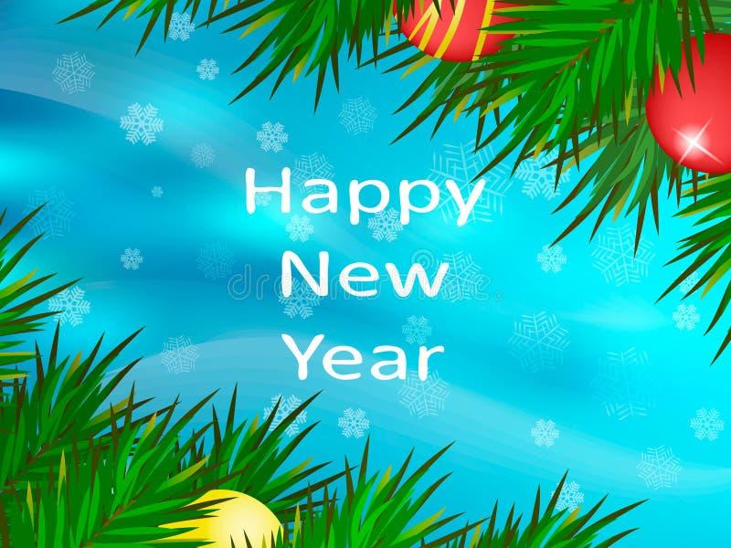 Gelukkig Nieuwjaar De achtergrond van Kerstmis royalty-vrije stock fotografie