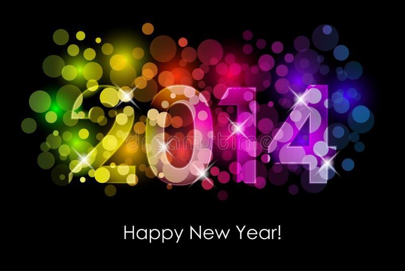 Gelukkig Nieuwjaar - de kleurrijke achtergrond van 2014 royalty-vrije illustratie